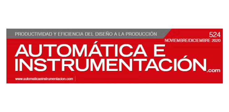 Rótulo revista Automática e Instrumentación.com número 524